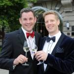 Gäste beim Empfang des Ball des Weines 2014