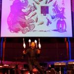 Künstler auf der Bühne des Ball des Weines 2015
